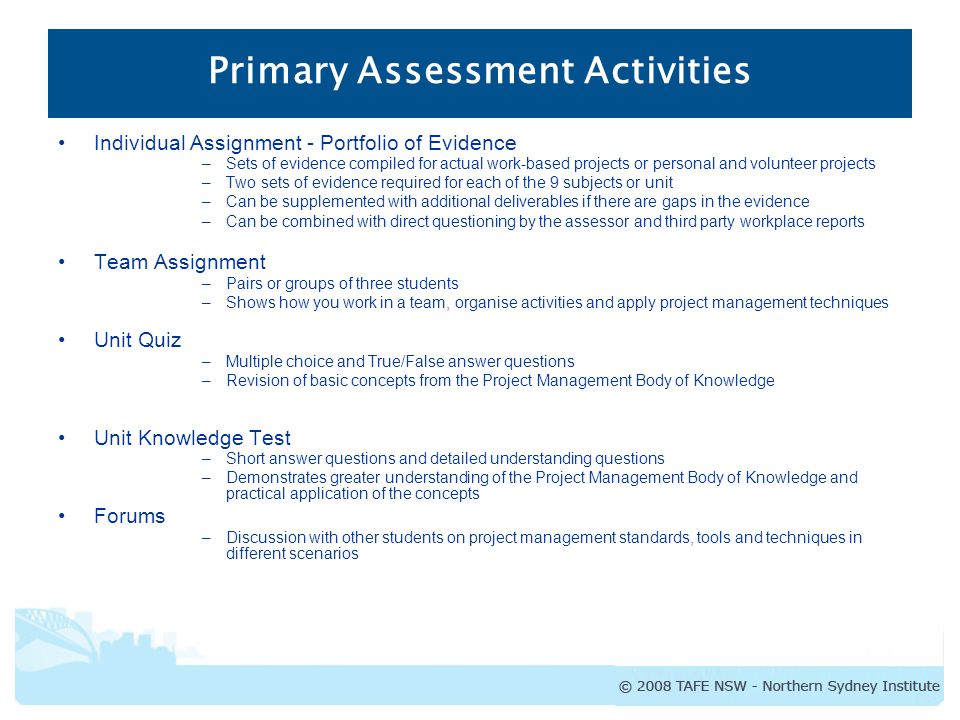 Assessment Activities - ppt video online download