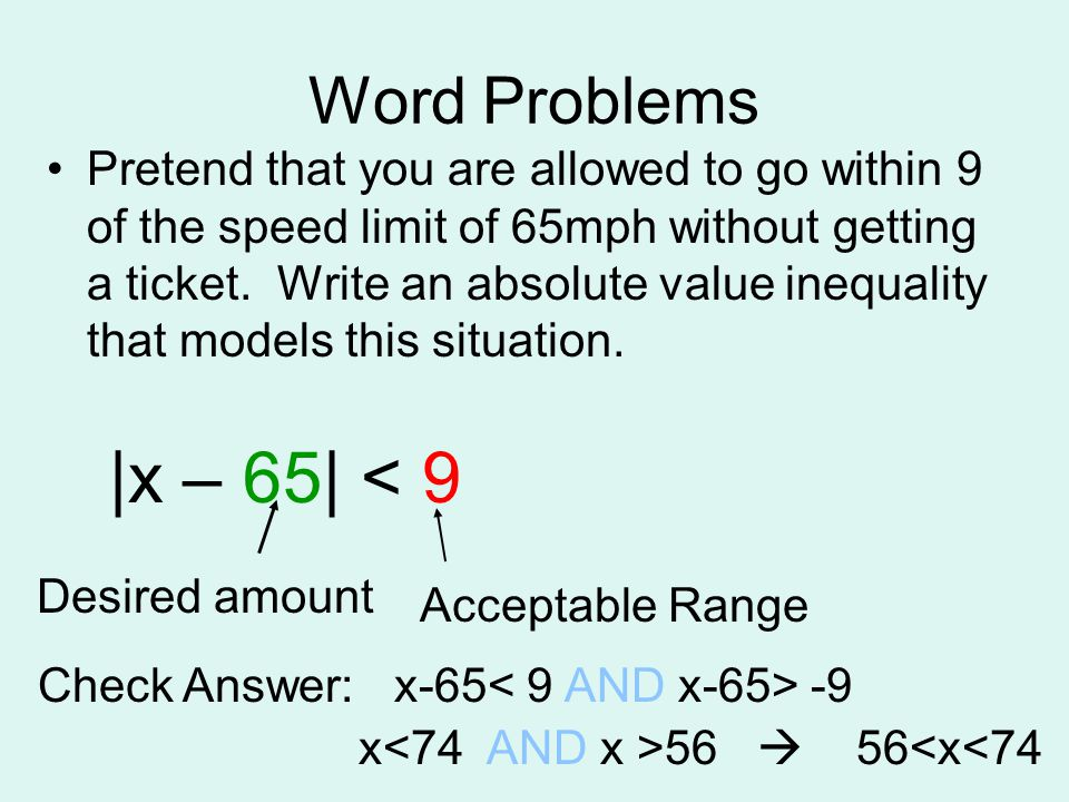 ABSOLUTE VALUE EQUALITIES and INEQUALITIES - ppt video online download