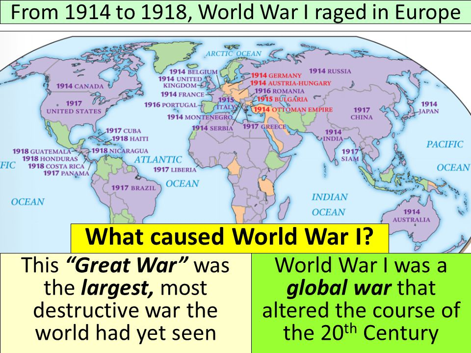 the causes of the first world war First world war it's possibly the single most pondered question in history  dan snow discusses the causes of world war two with his historian aunt,.