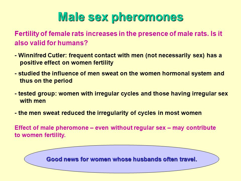 Male pheromones and menstrual cycle
