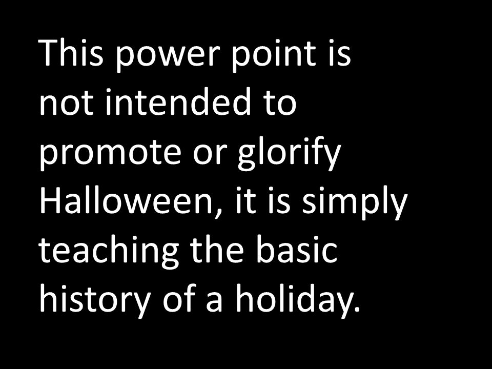 history of halloween ppt download