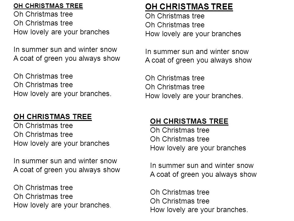 3 oh christmas tree oh christmas tree oh christmas tree how lovely are your branches - Oh Christmas Tree How Lovely Are Your Branches Lyrics