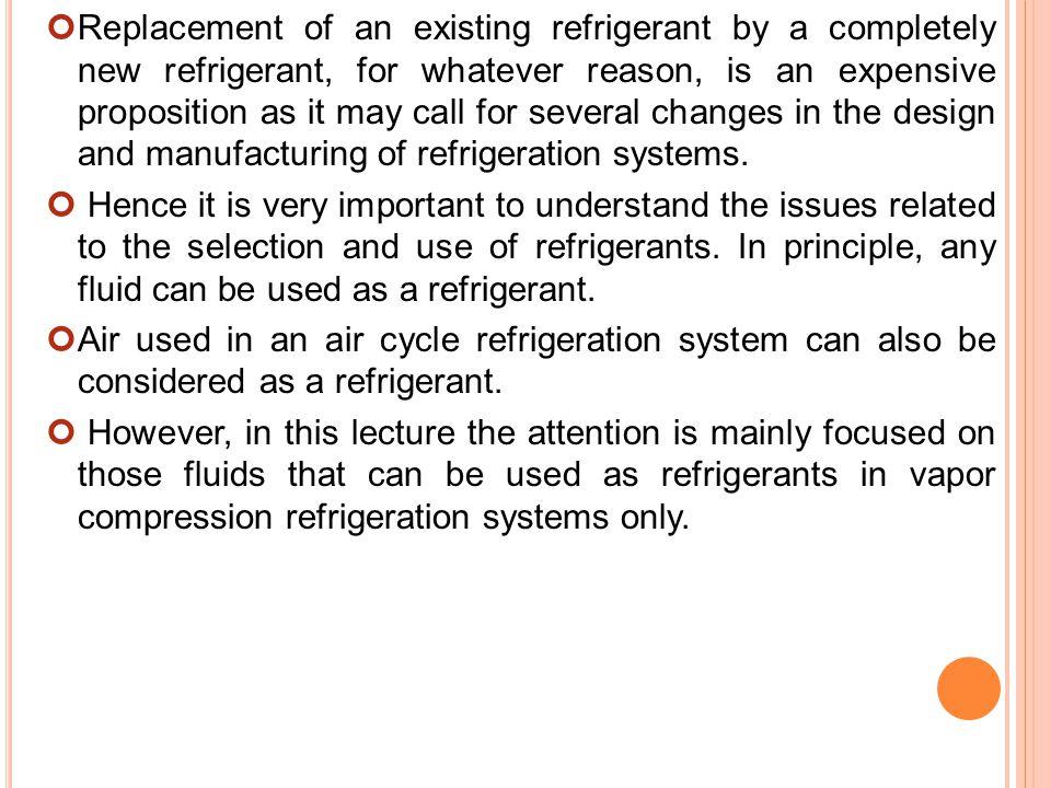 importance of refrigeration system