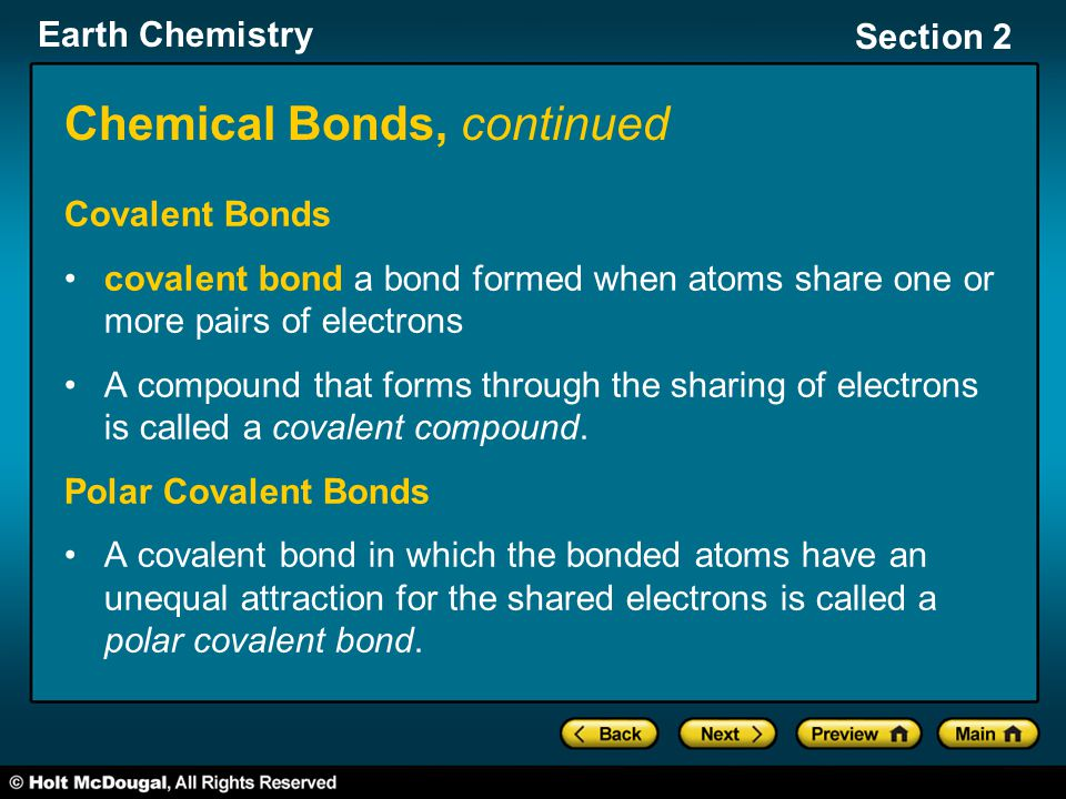 Chemical Bonds, continued