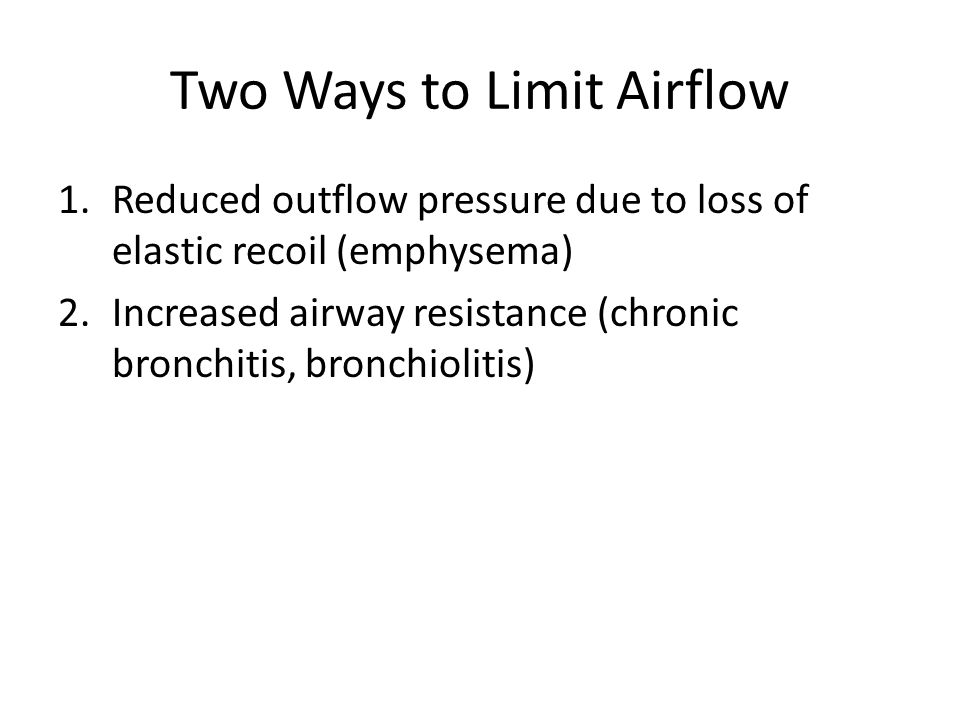Two Ways to Limit Airflow