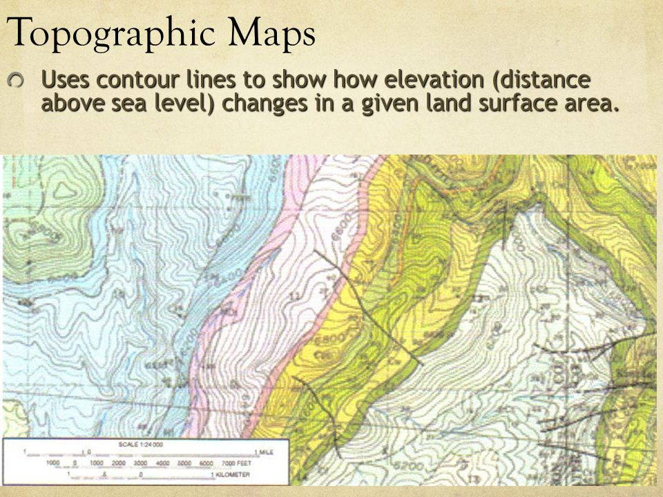 Which Kind Of Map Uses Contour Lines To Show Elevation Types of Maps Globes Mercator Projection Earth on a grid   ppt