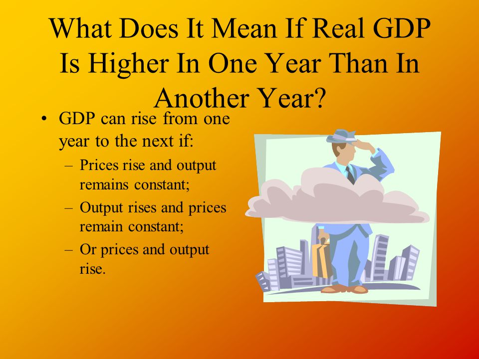 What Does It Mean If Real GDP Is Higher In One Year Than In Another Year