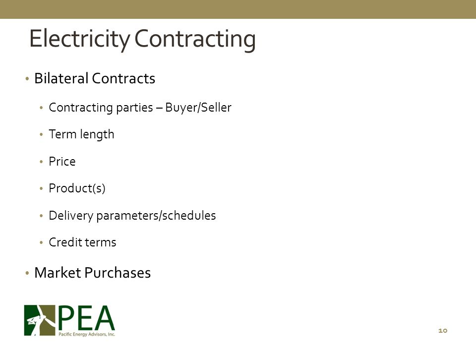 Electricity Contracting