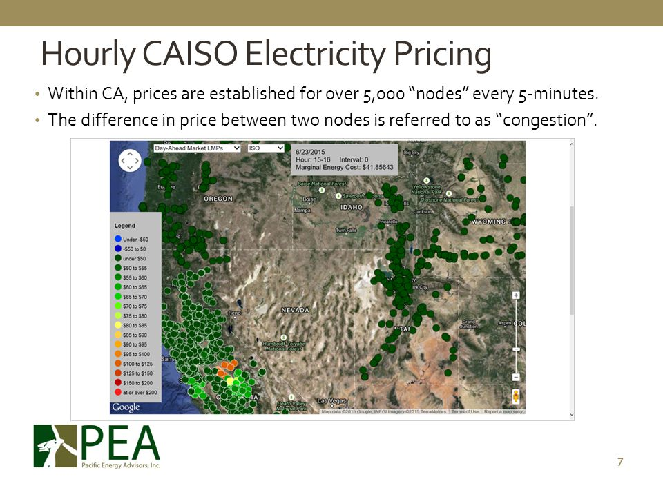 Hourly CAISO Electricity Pricing