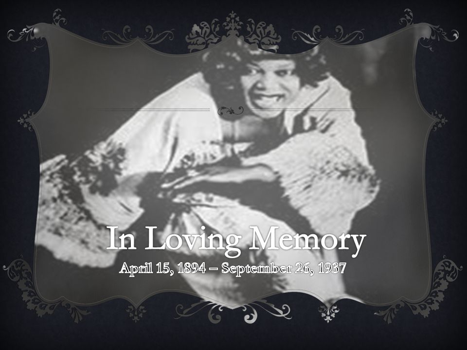 In Loving Memory April 15, 1894 – September 26, 1937
