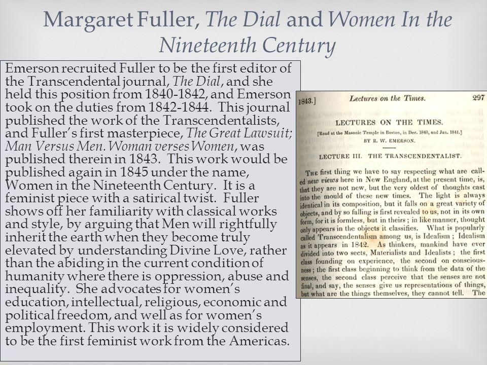margaret fuller woman in the nineteenth century summary