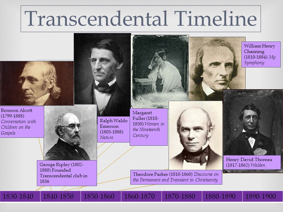 Early American Literature Transcendental Literature