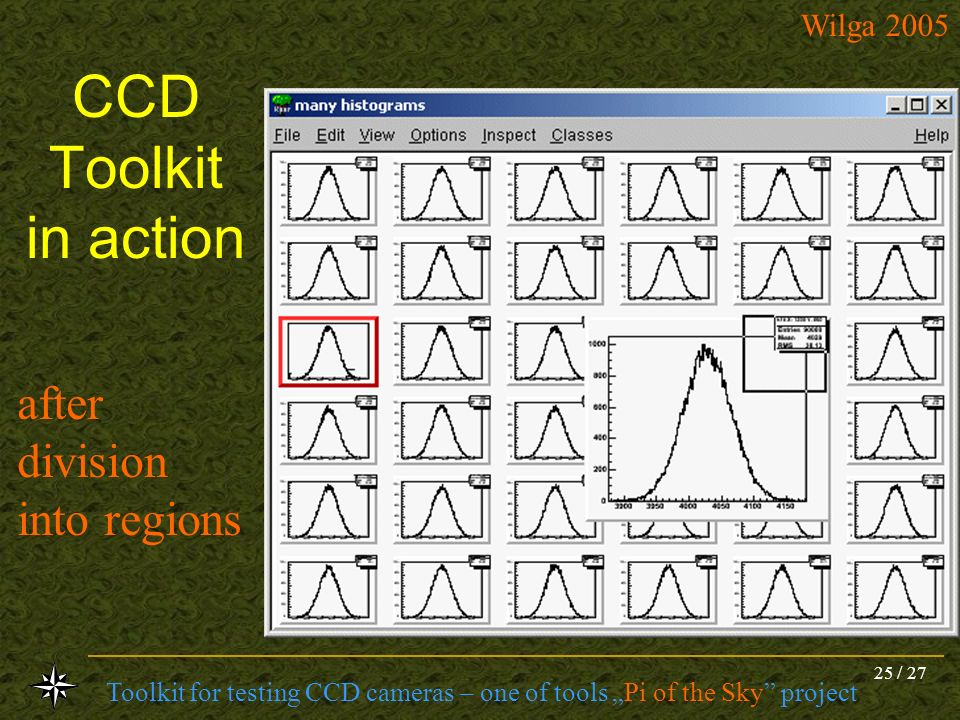 CCD Toolkit in action after division into regions