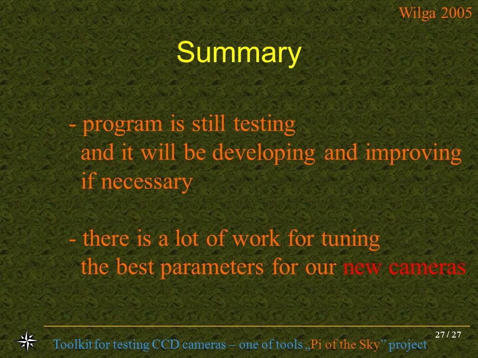 Summary program is still testing and it will be developing and improving.