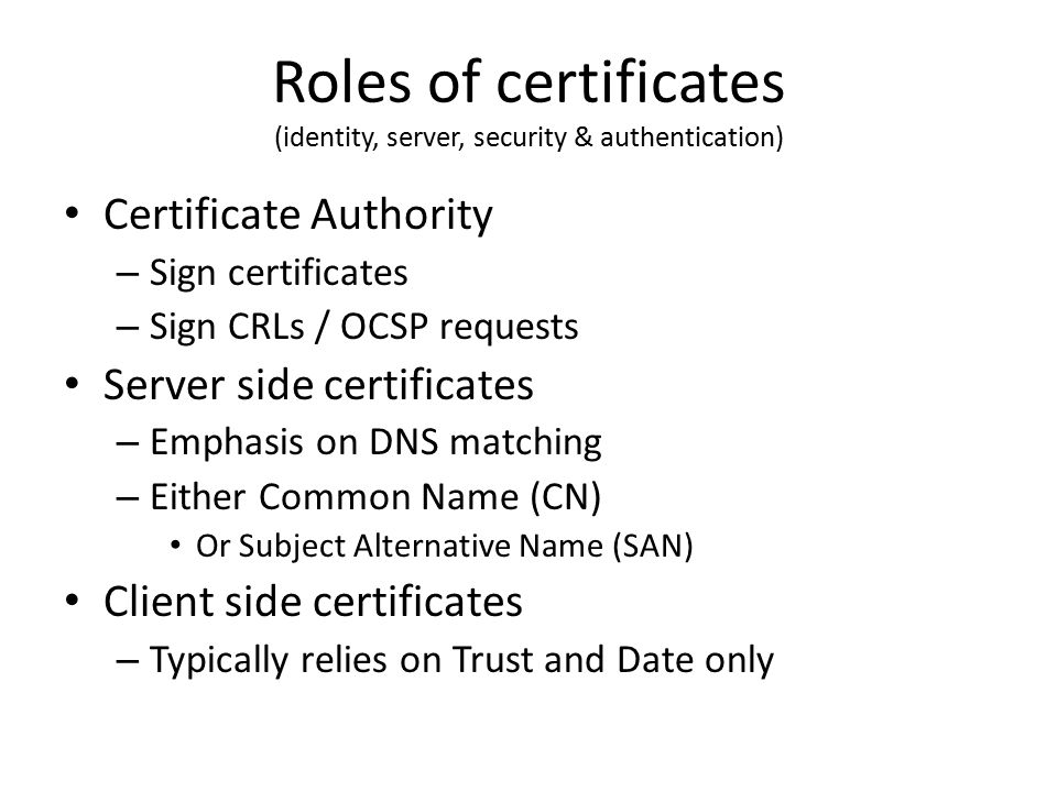 Digital Certificates Principles of operation - ppt video