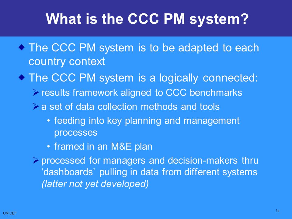 What is the CCC PM system