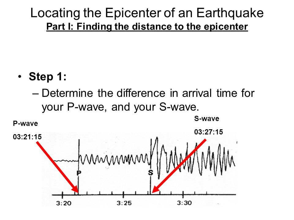 Instructions for Locating an Earthquake Epicenter - ppt ...