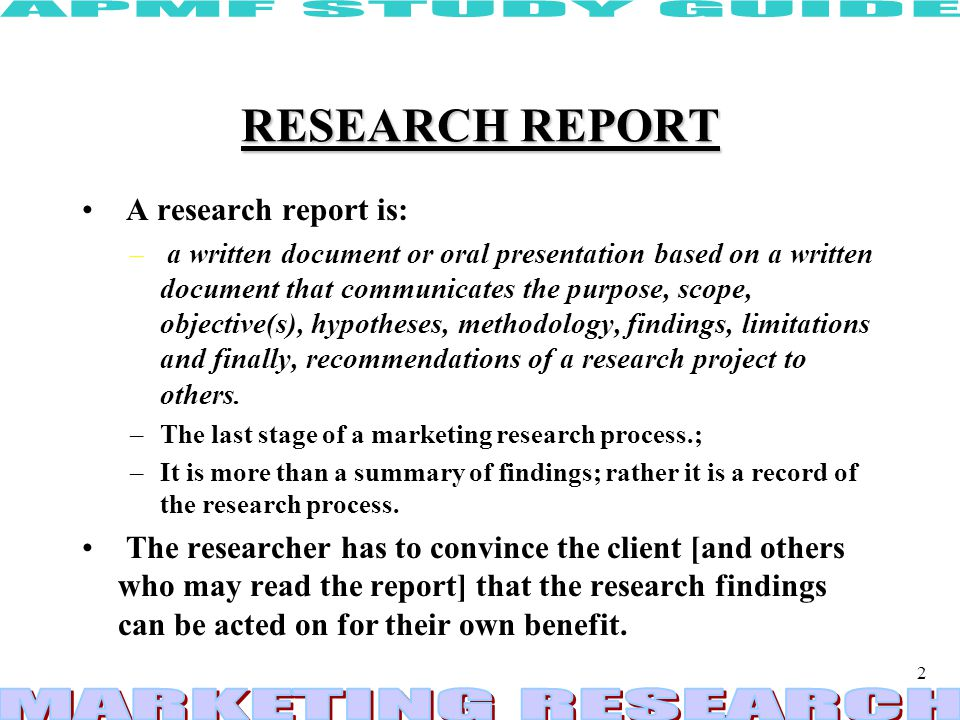 research report preparation and presentation ppt download