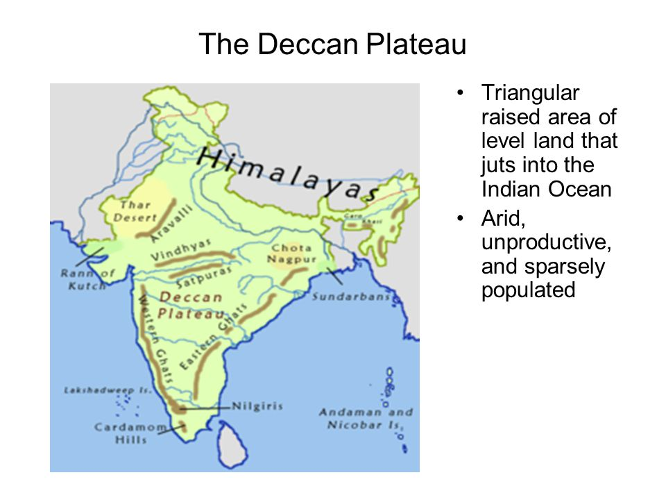Images of Deccan Plateau India Map - #rock-cafe on