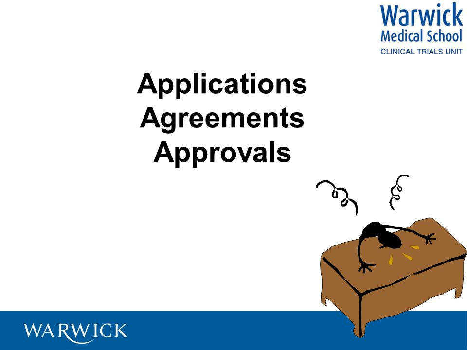 Applications Agreements Approvals