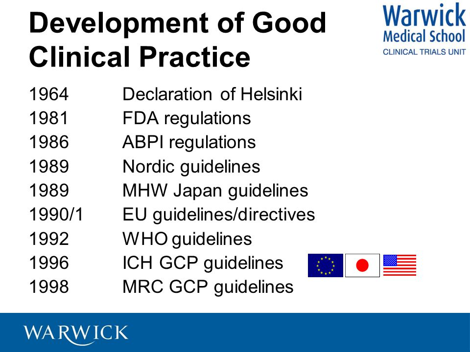 Development of Good Clinical Practice