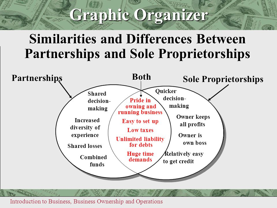 Graphic Organizer Similarities and Differences Between