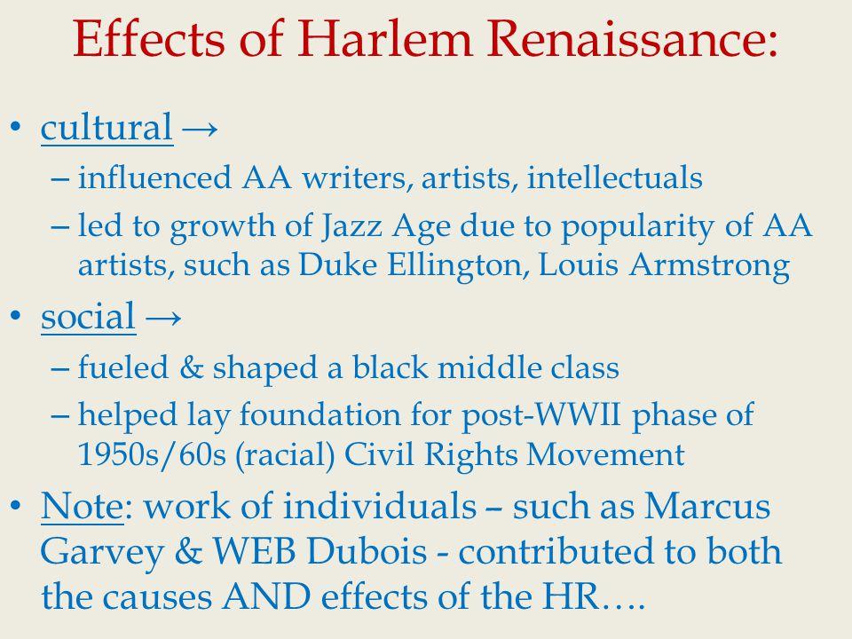 harlem renaissance impact
