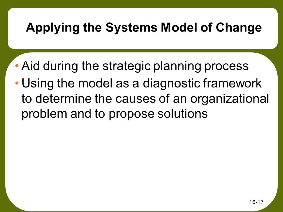 systems model of change