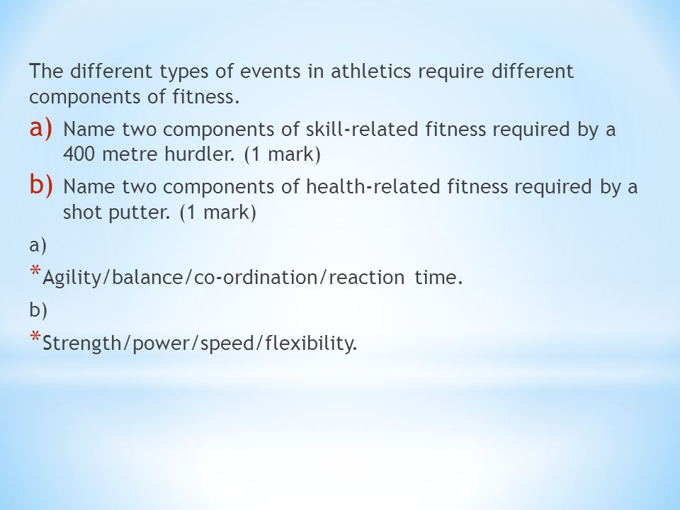 AS PE PHYSIOLOGY EXAM QUESTIONS & MARK SCHEMES - ppt download