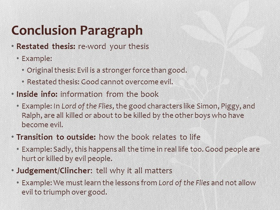 introduction paragraph for lord of the flies essay Get free homework help on william golding's lord of the flies: book summary, chapter summary and analysis, quotes, essays, and character analysis courtesy of cliffsnotes.