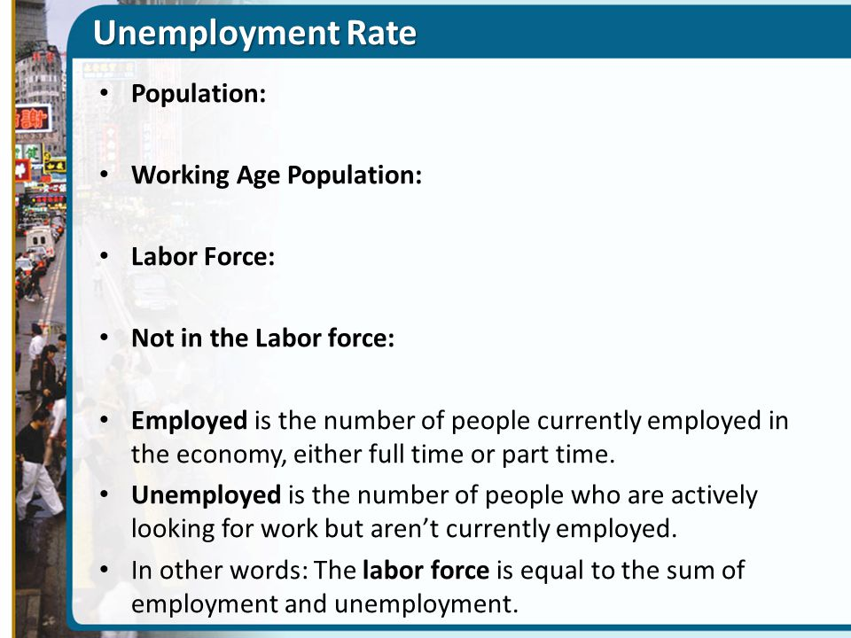 Unemployment Rate Population: Working Age Population: Labor Force: