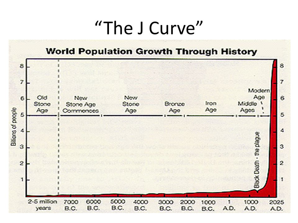 The J Curve What happened in the last 1000 years that enabled the population to grow so dramatically