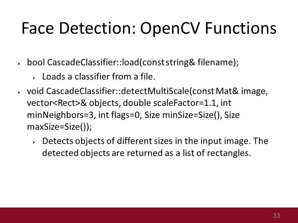 Find Mii Project and OpenCV Tutorial - ppt video online download