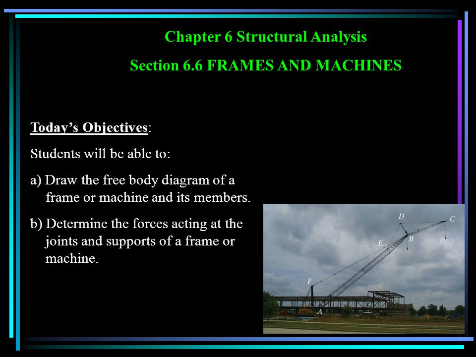 Chapter 6 Structural Analysis Section 6.6 FRAMES AND MACHINES