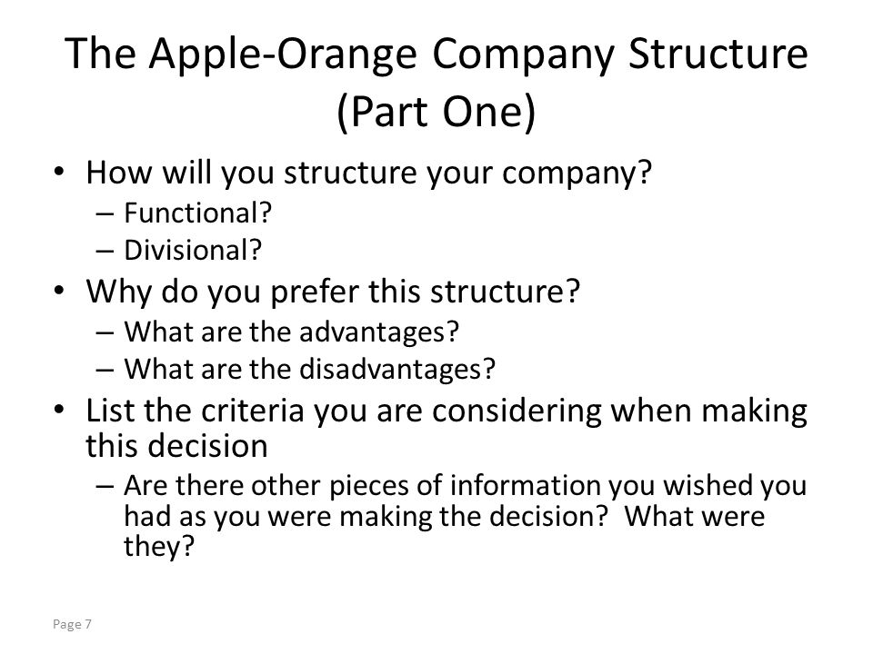 apple company structure