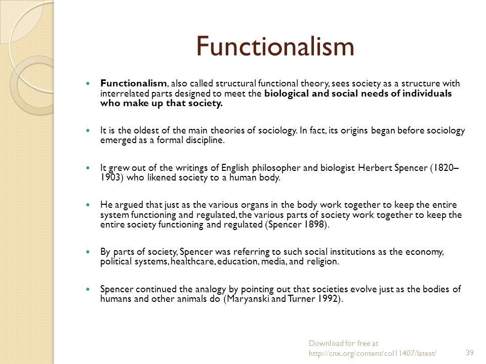 herbert spencer functionalism
