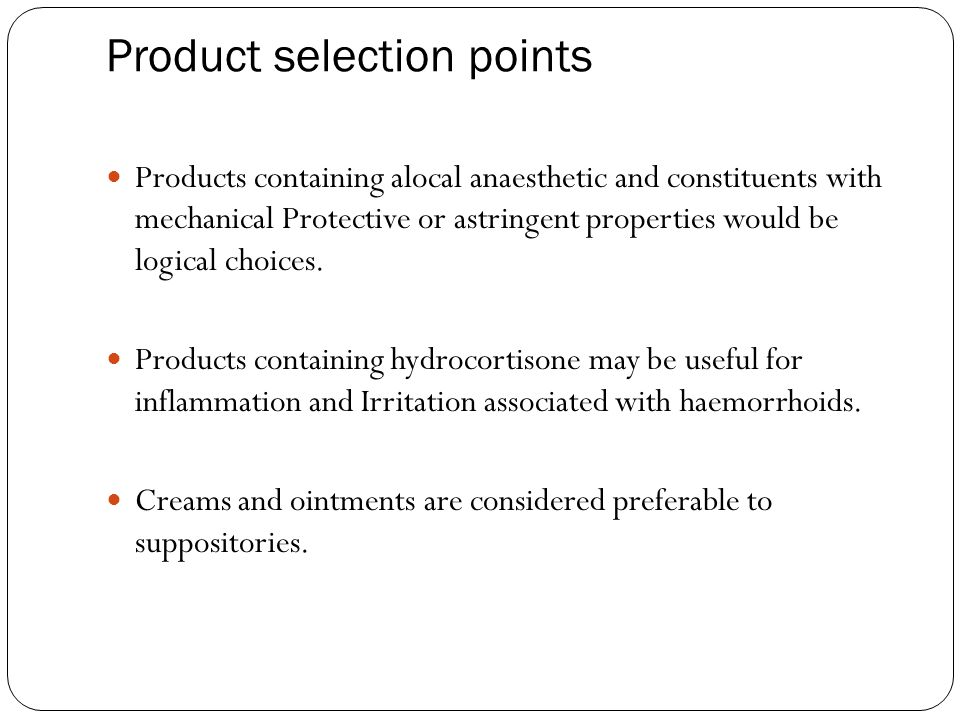 Product selection points