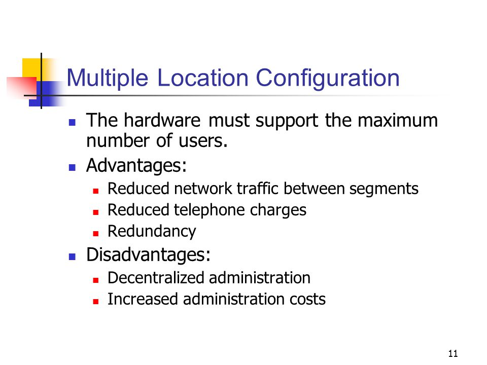 Multiple Location Configuration