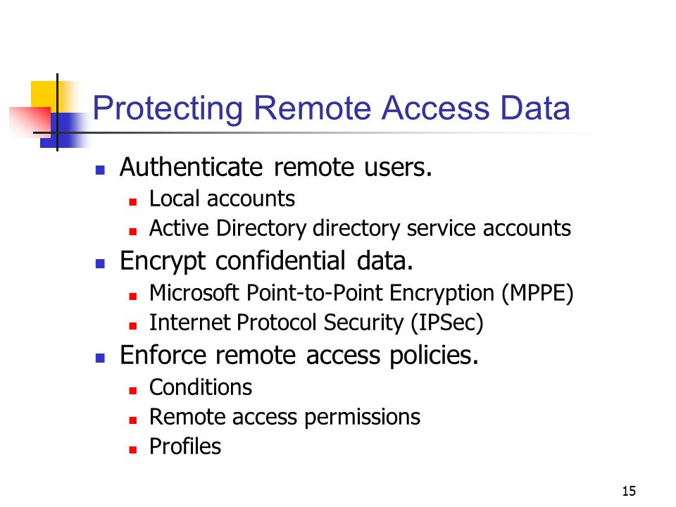 Protecting Remote Access Data