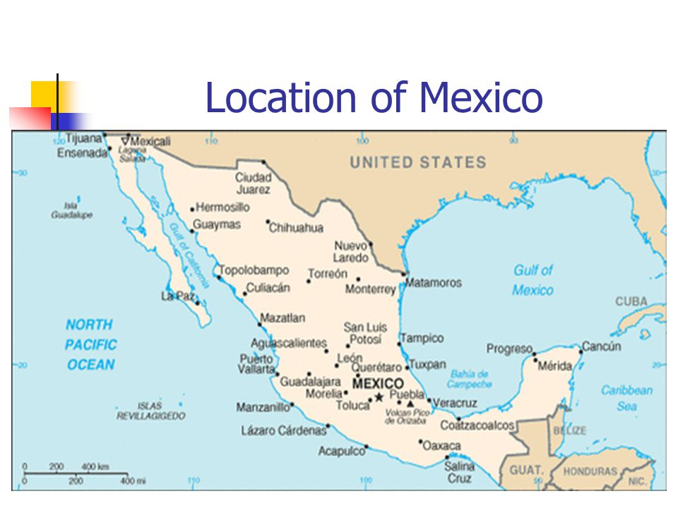 3 location of mexico