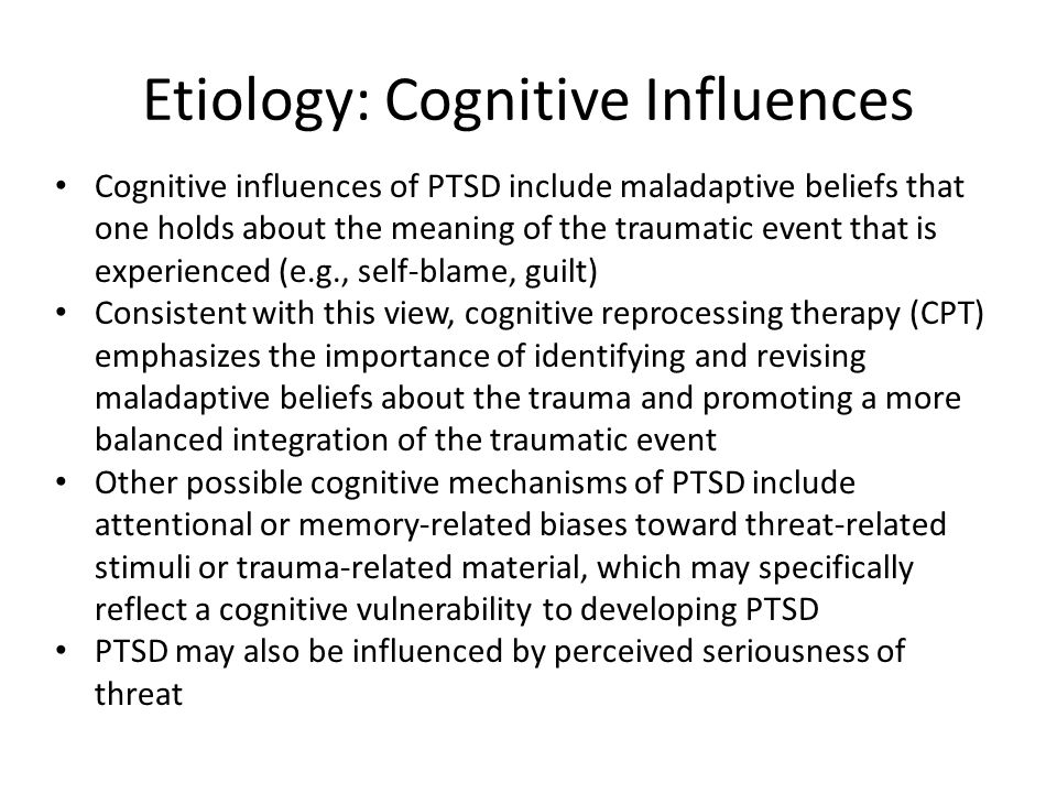 Etiology: Cognitive Influences