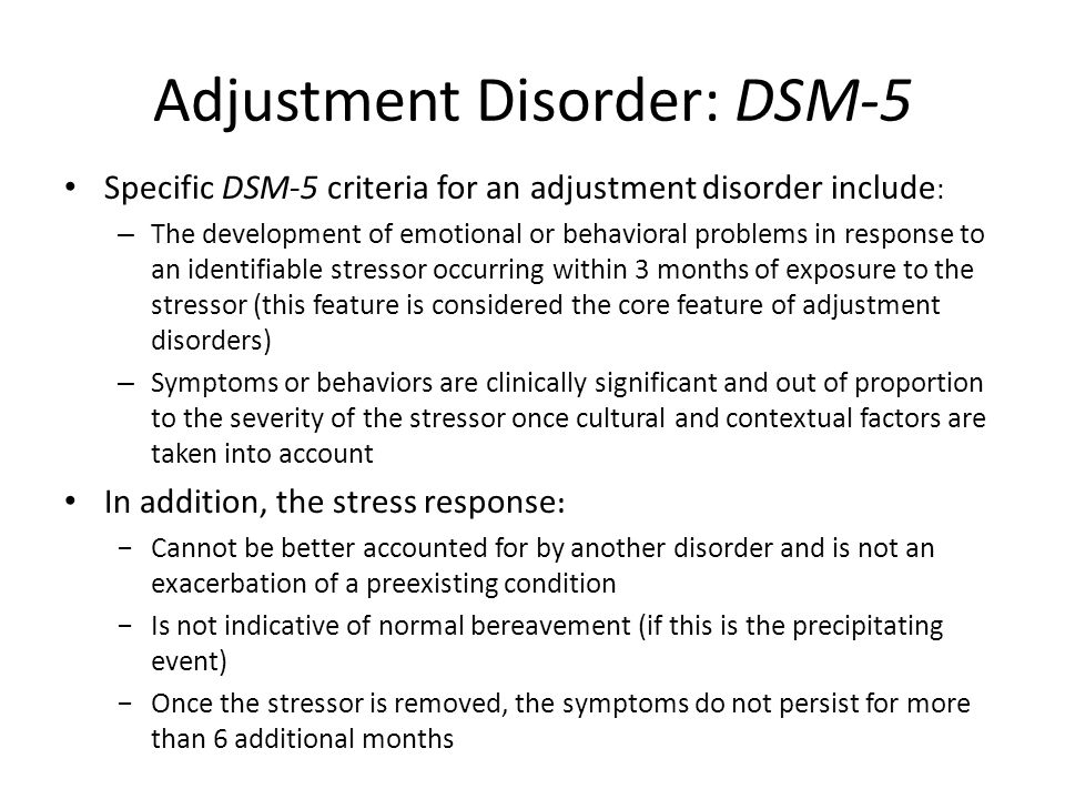 Adjustment Disorder: DSM-5