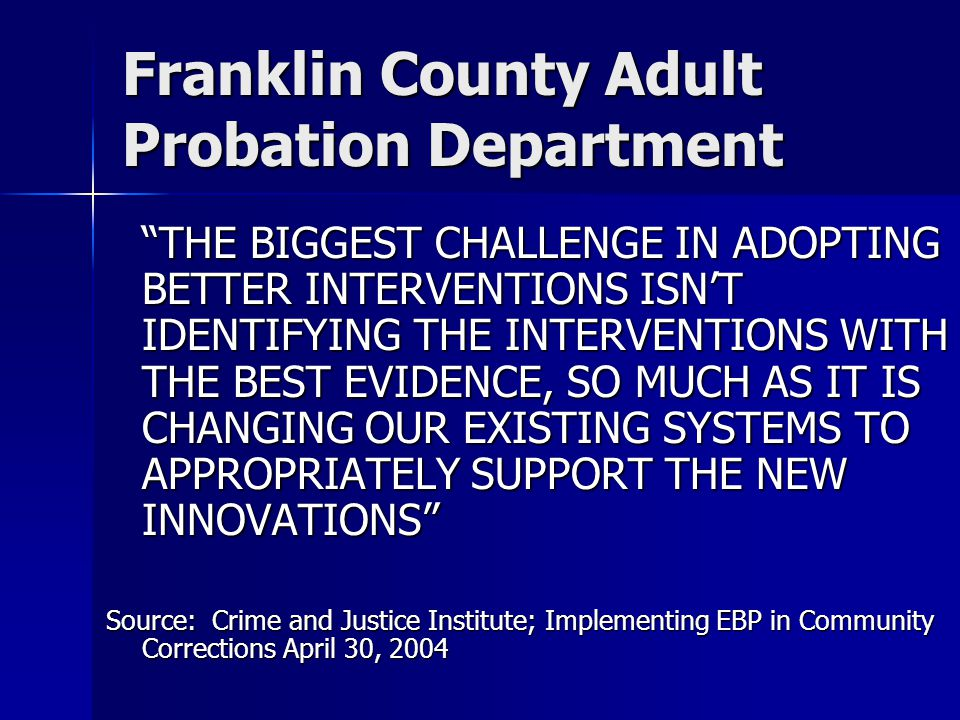 Cochise county adult probation department