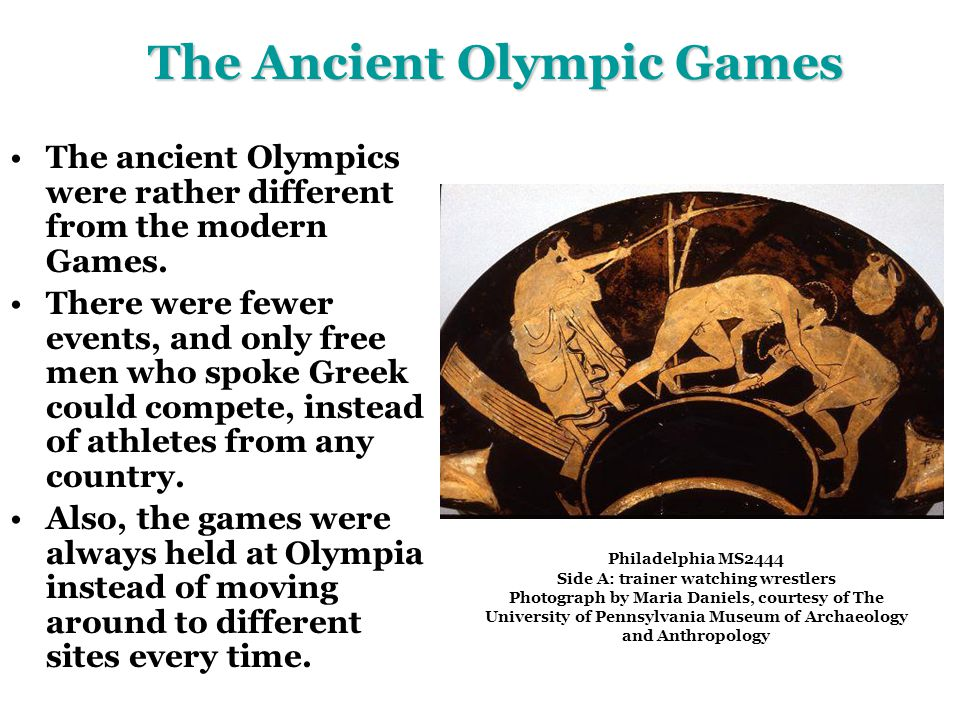 The Ancient Olympic Games - ppt video online download