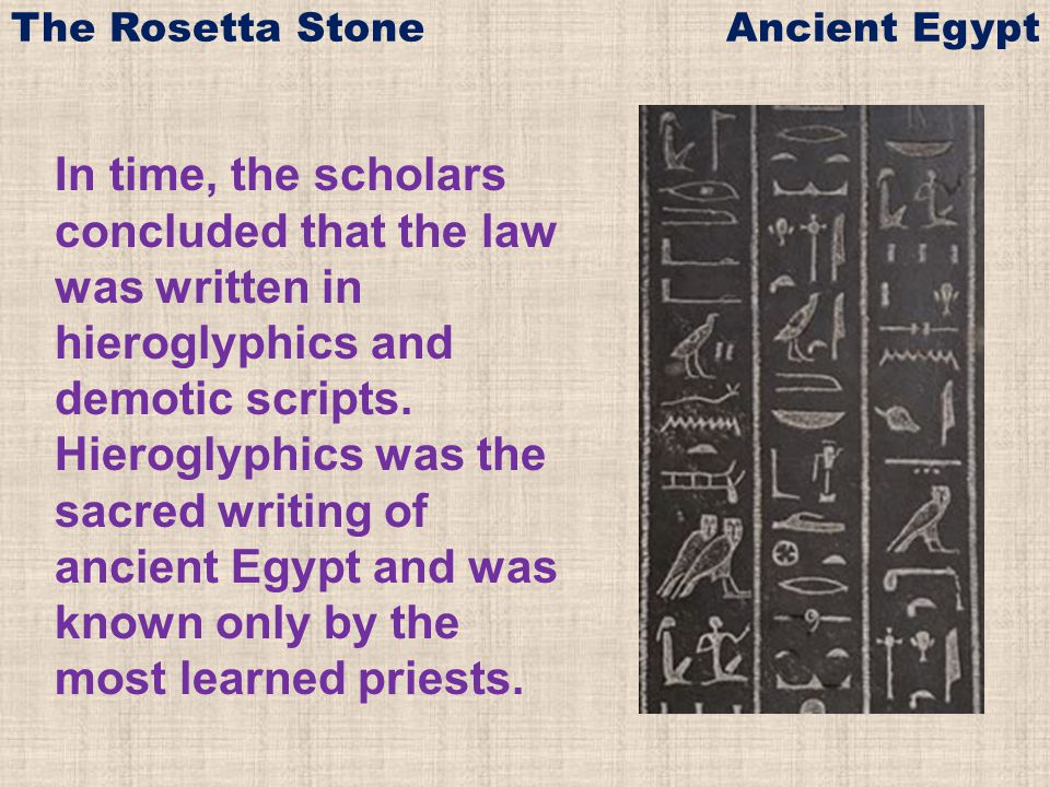 The Rosetta Stone Ancient Egypt - ppt video online download