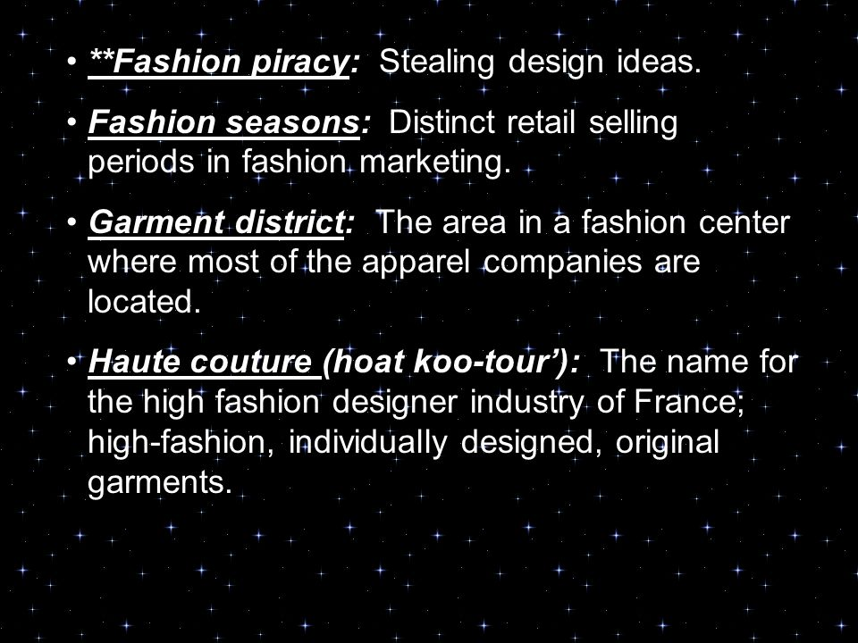 2.04 fashion centers, designers, and market categories. - ppt download