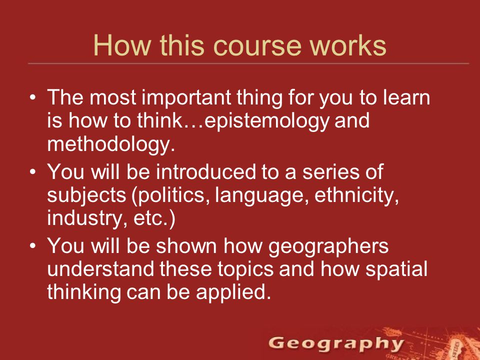 interesting human geography topics