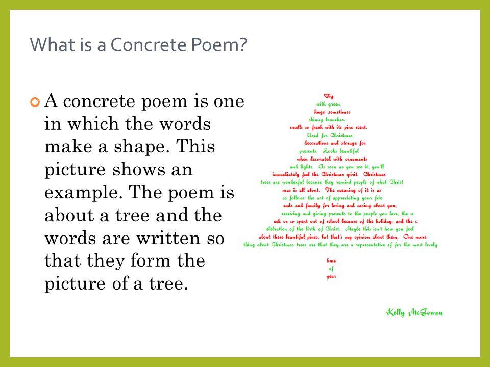 2 What is a Concrete Poem - 1 Concrete Poems. - Ppt Video Online Download