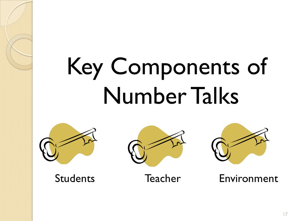 Key Components of Number Talks