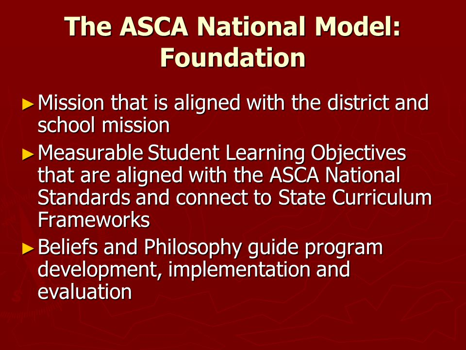 The ASCA National Model: Foundation